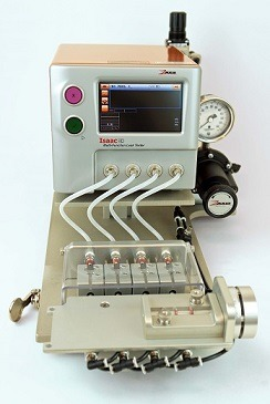 Automated Catheter Fixture Zaxis Isaac HD Air Leak Tester