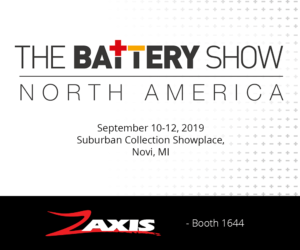 The Battery Show North America 2019 - Zaxis booth 1644