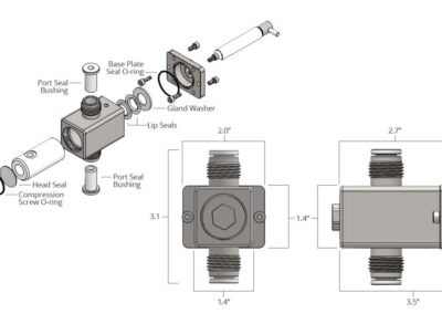 eVmP V/VS pump head exploded view and specifications